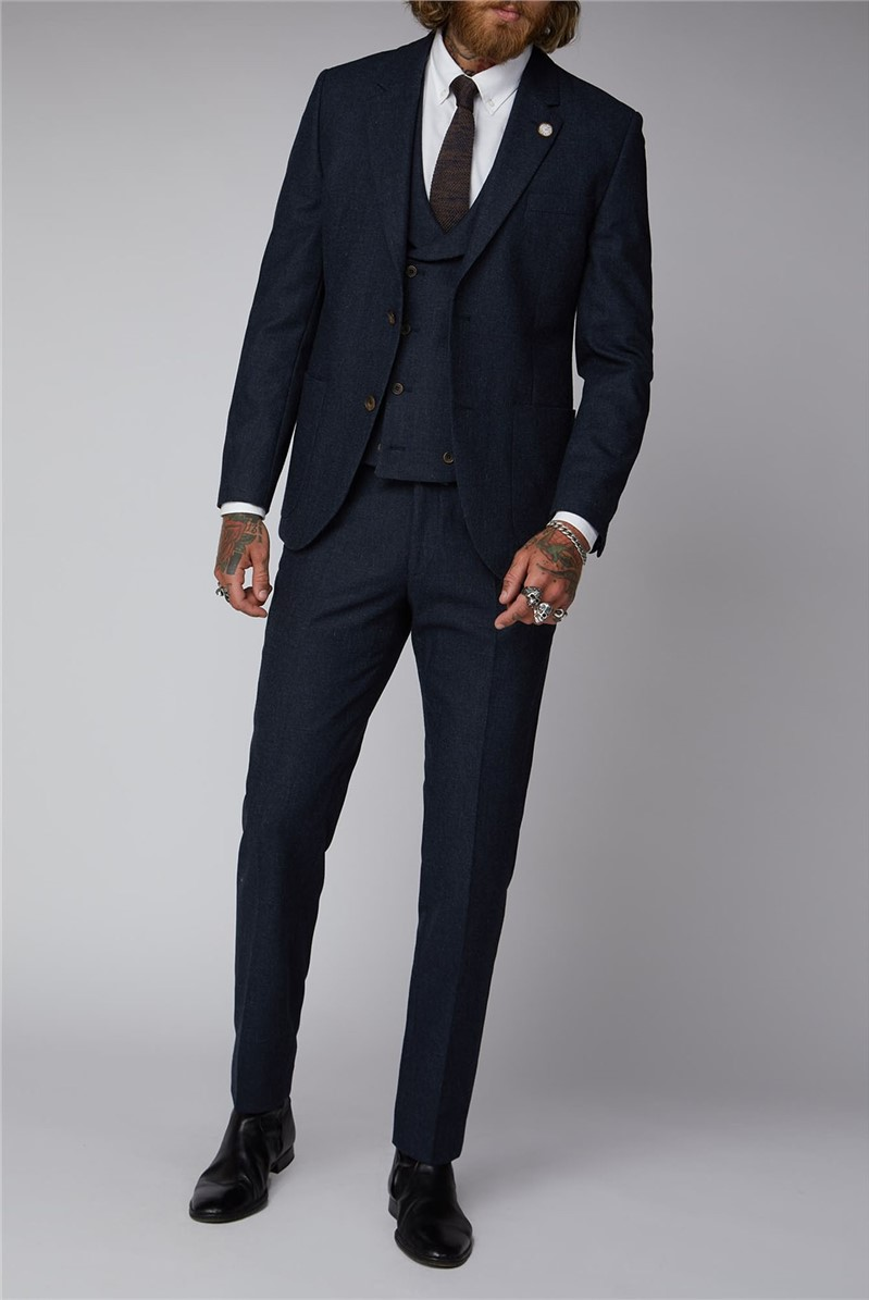 Plain Navy Suit