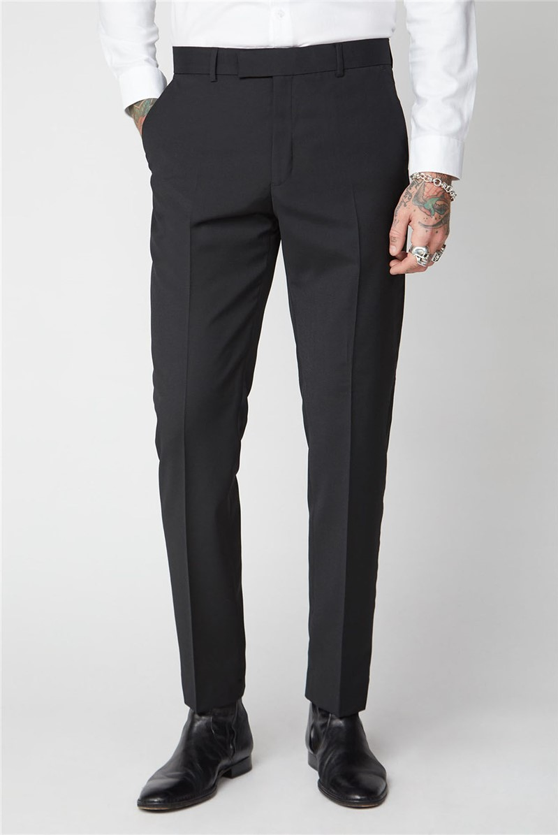 Gibson London BLACK PANAMA TROUSER