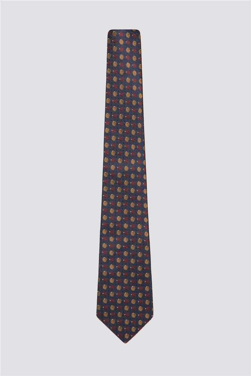Navy Shell Tie