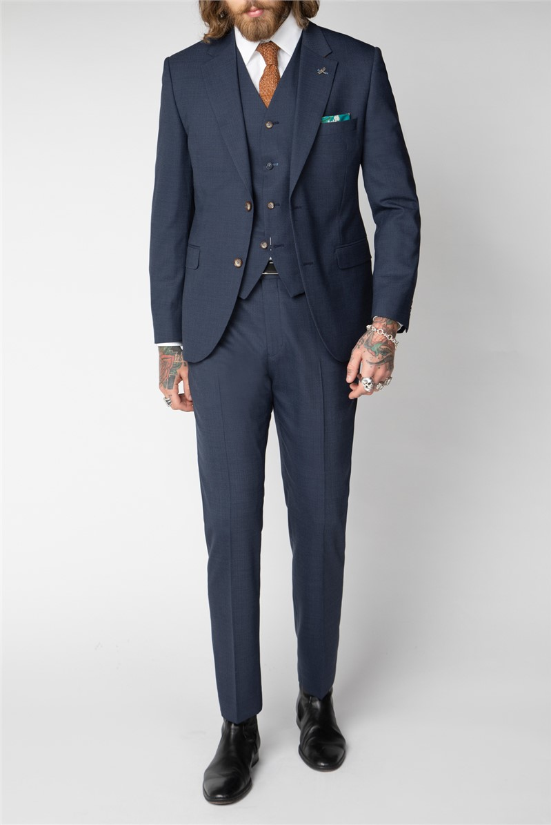 Mid Blue Plain Suit