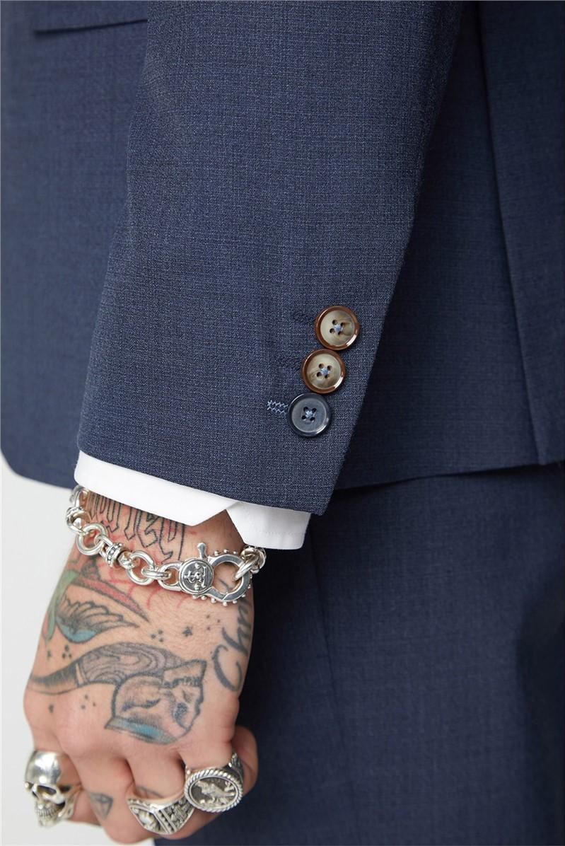 Mid Blue Plain Waistcoat