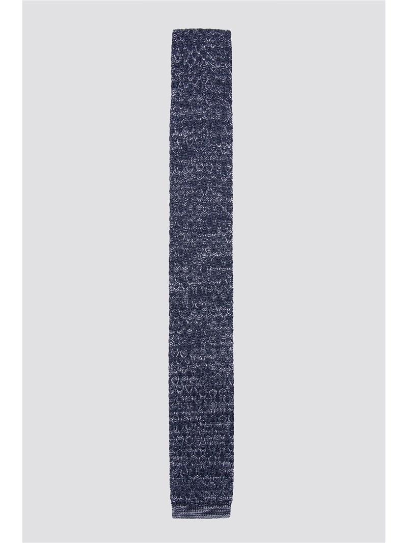 Navy Melange Knitted Tie