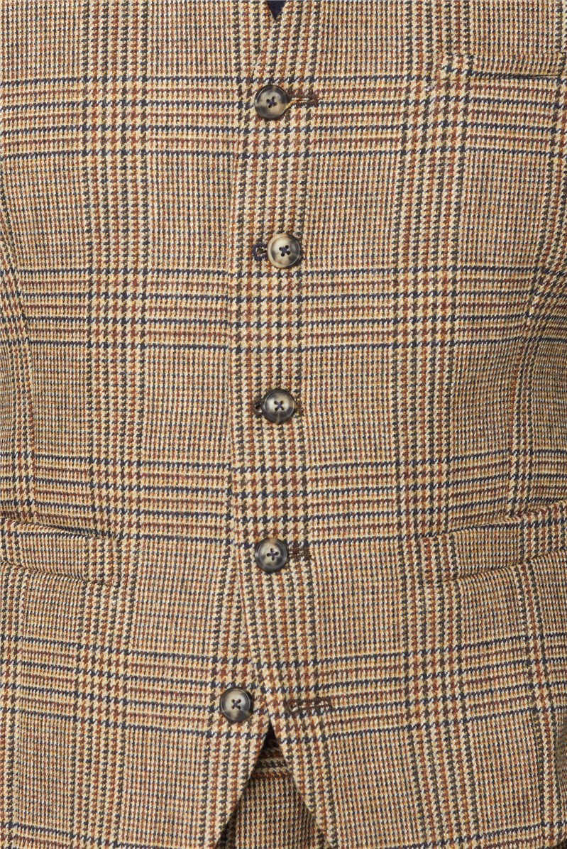 Fawn Glen Check Waistcoat