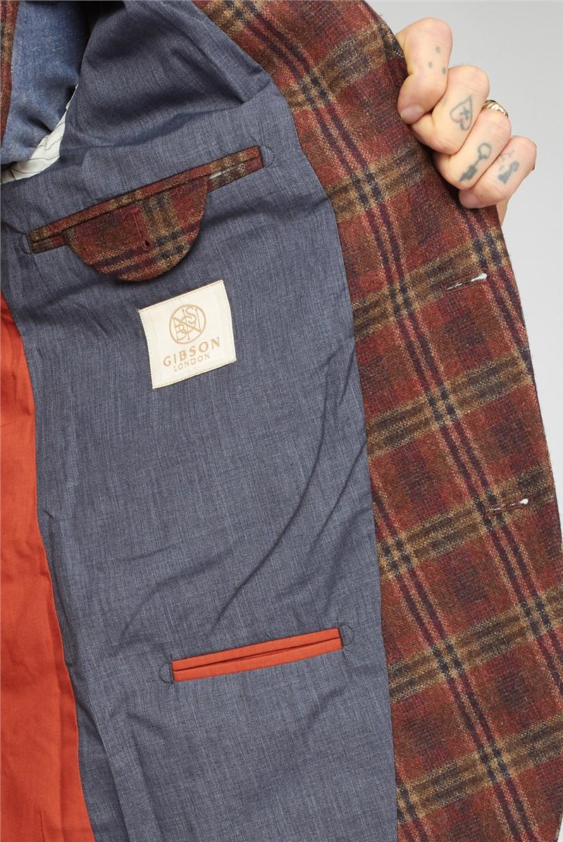 Orange Check Waistcoat