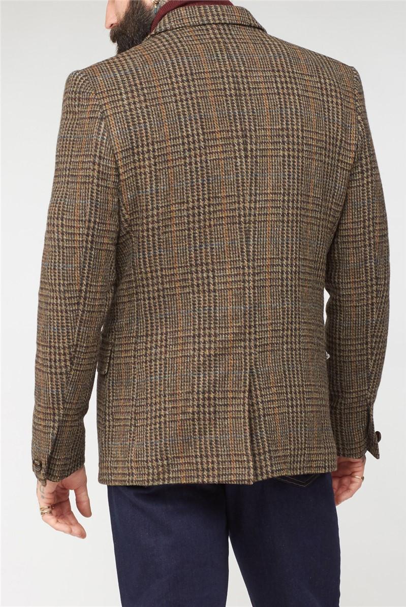 Brown Shetland Glen Check Jacket
