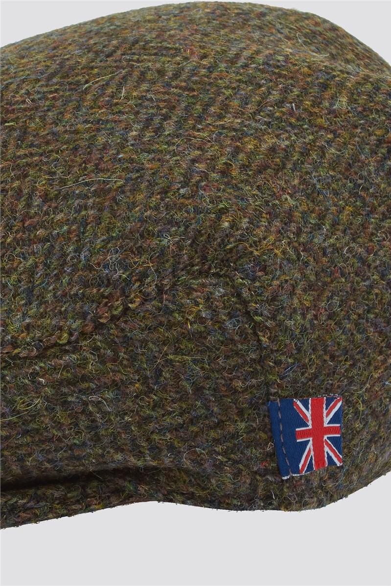 Brown Harris Tweed Hat