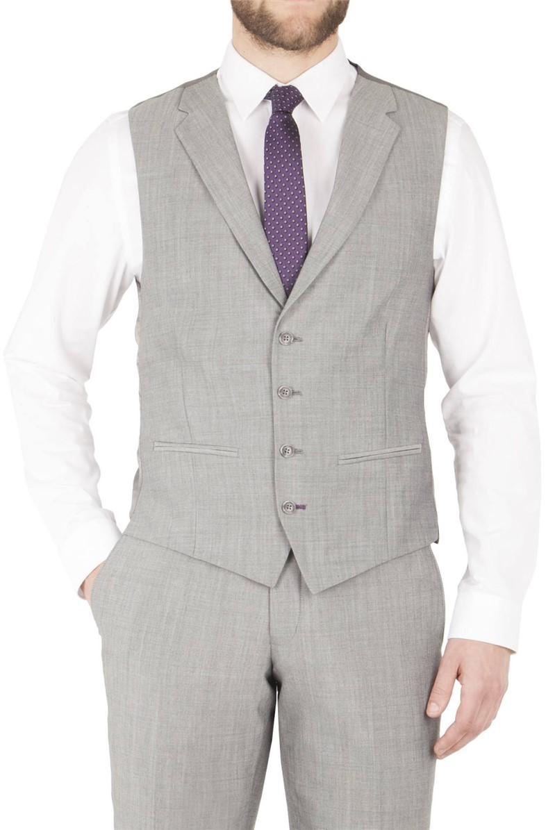 Silver Grey Suit Waistcoat