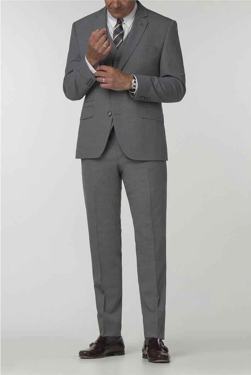 Gibson Essentials Grey Semi Plain Suit Jacket