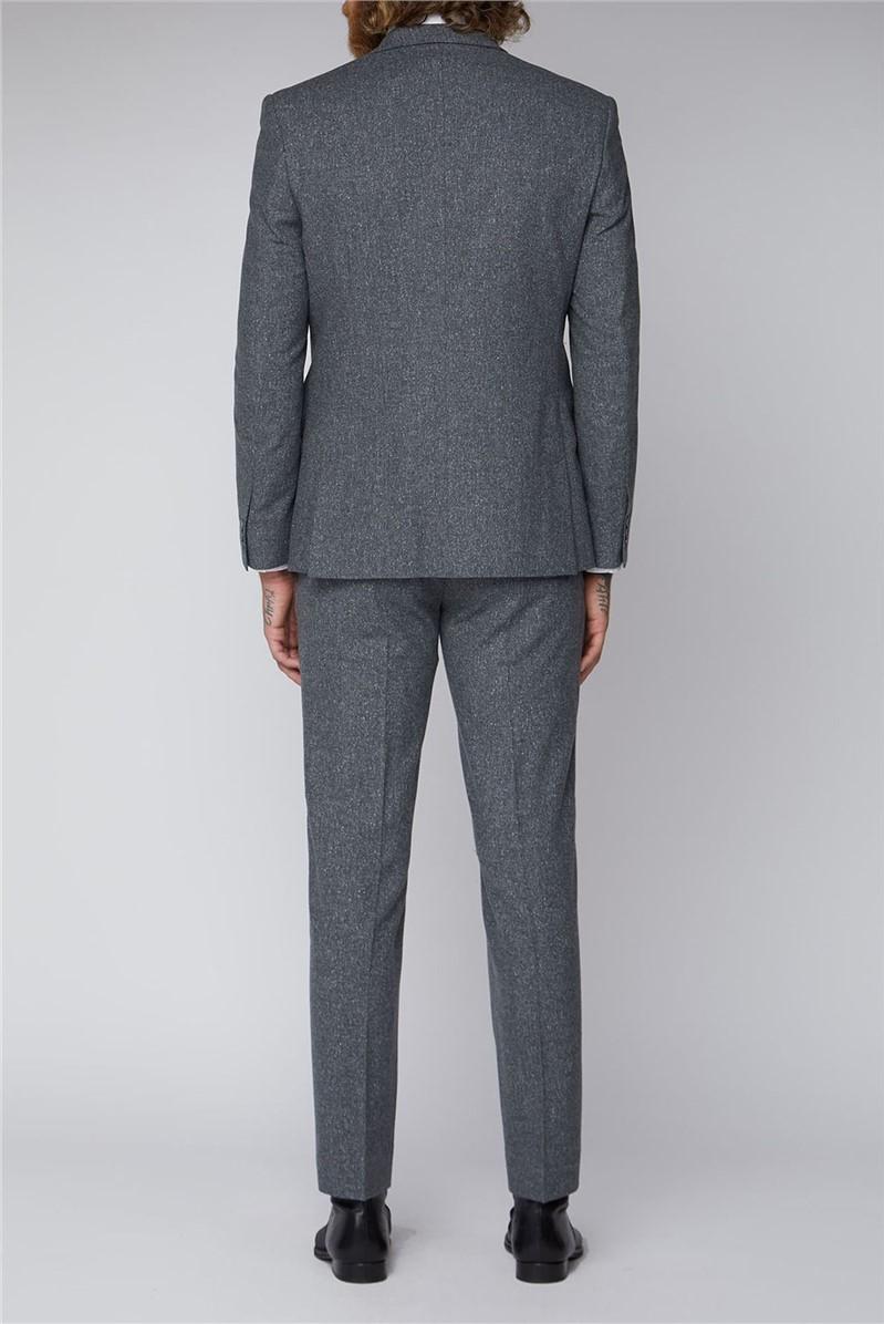Grey Tweed Slim Fit Trousers