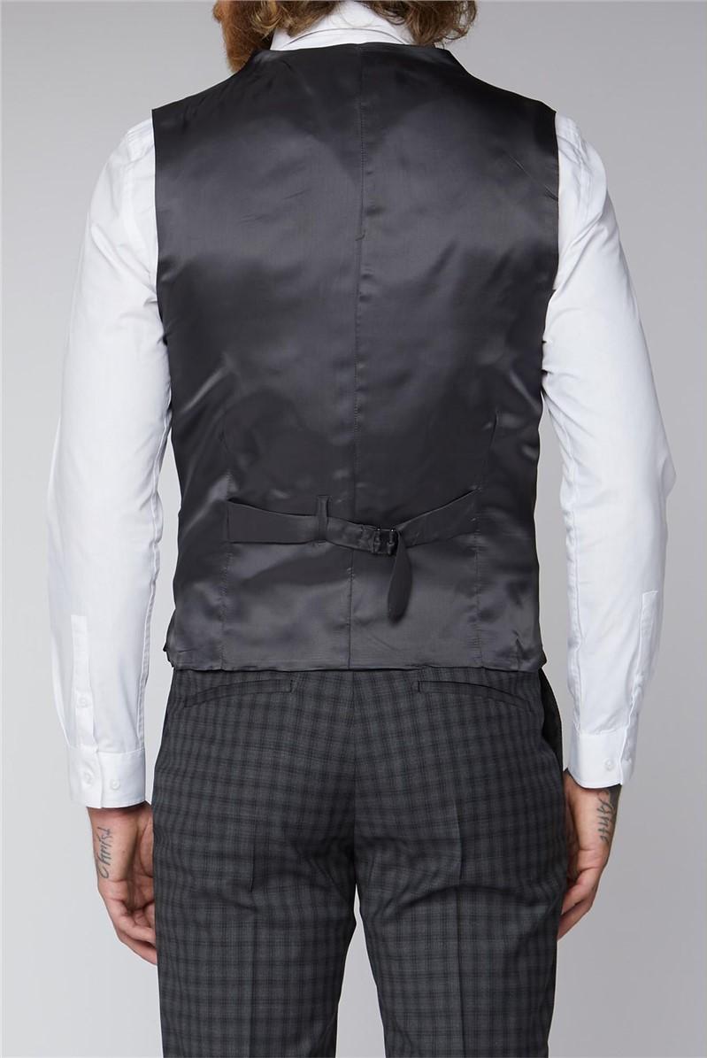 Grey Check Tailored Fit Lambeth Waistcoat
