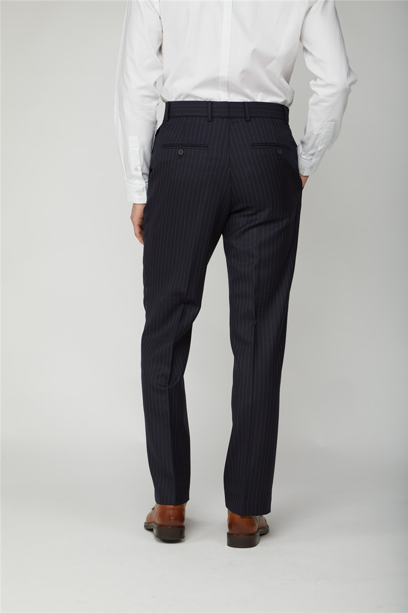 Navy Pinstripe Suit Trouser