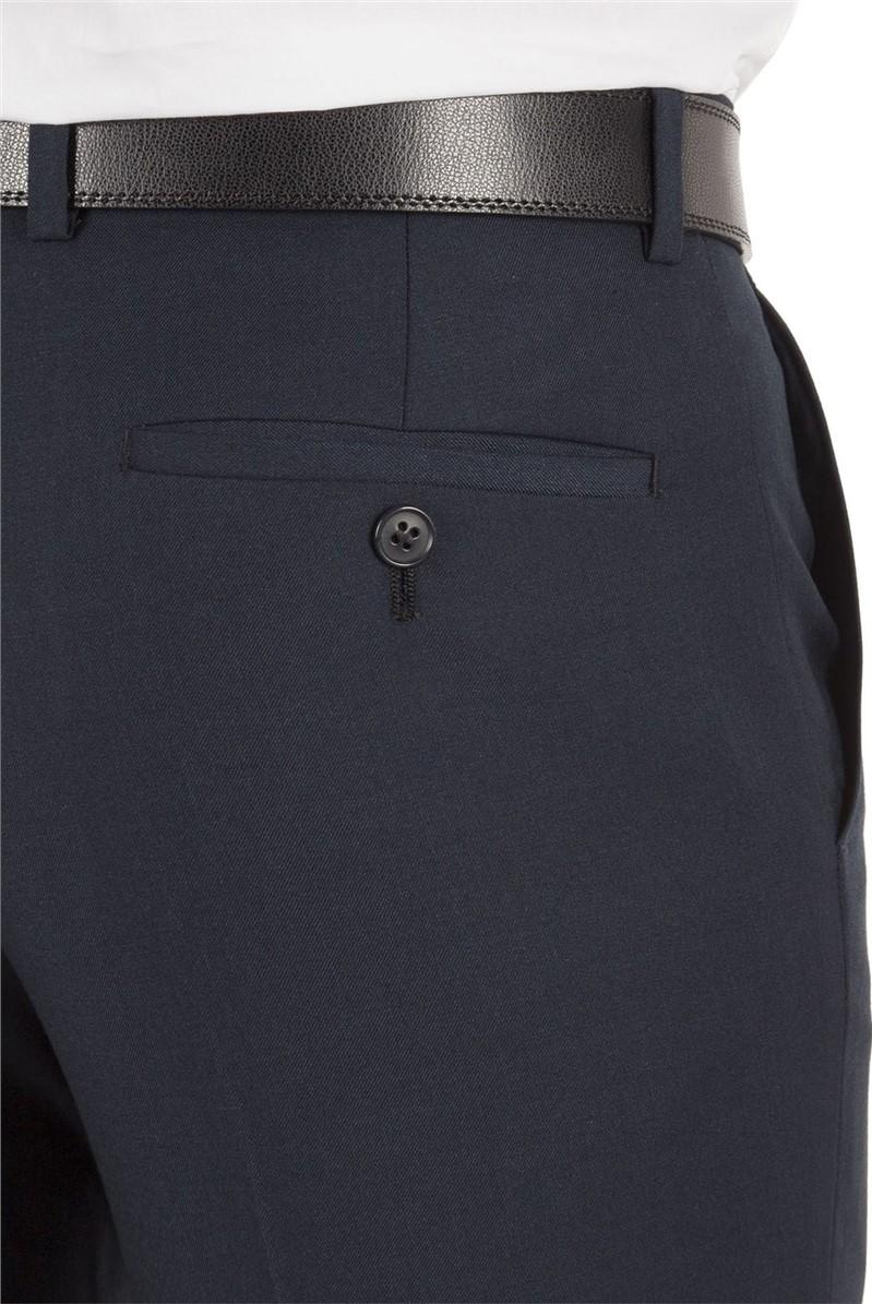 Navy Twill Slim Fit Suit Trouser