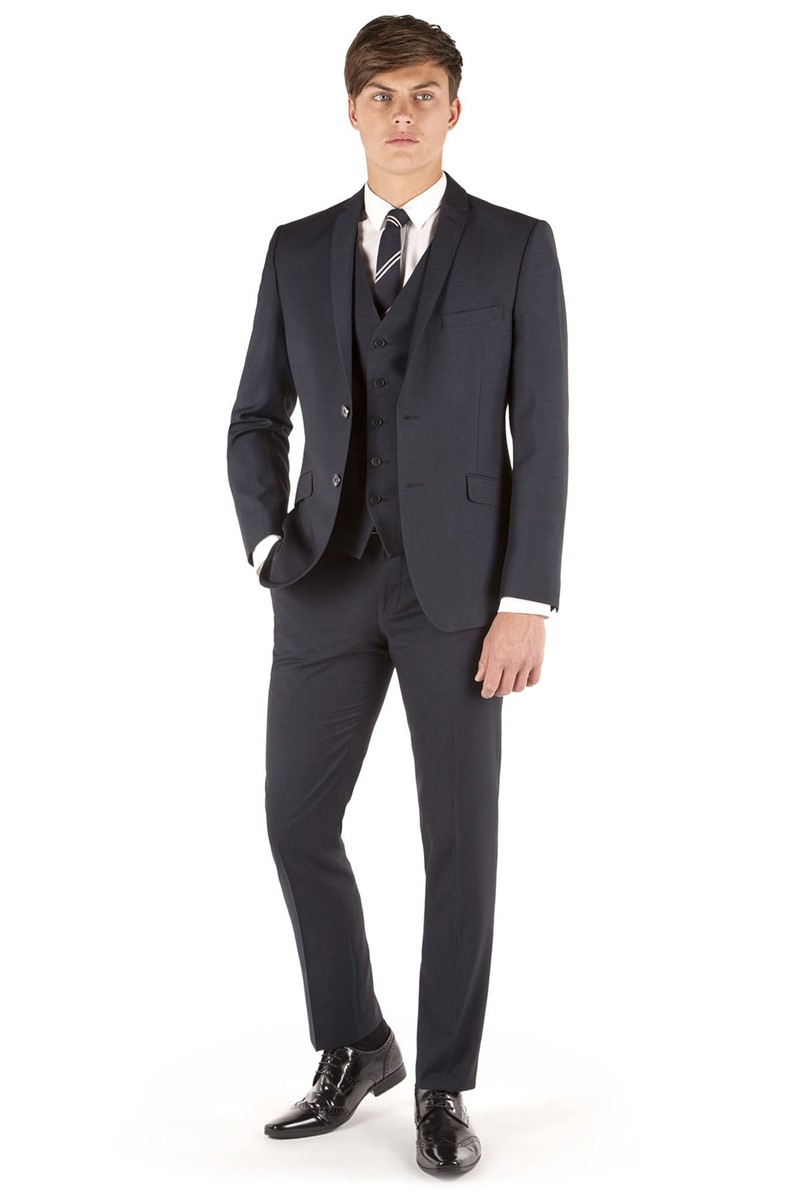 Navy Micro Design Slim Fit Suit