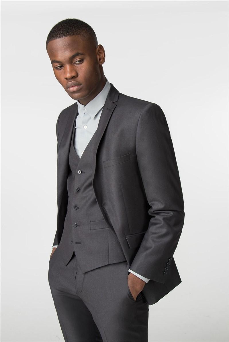 Graphite Twill Slim Fit Suit Jacket