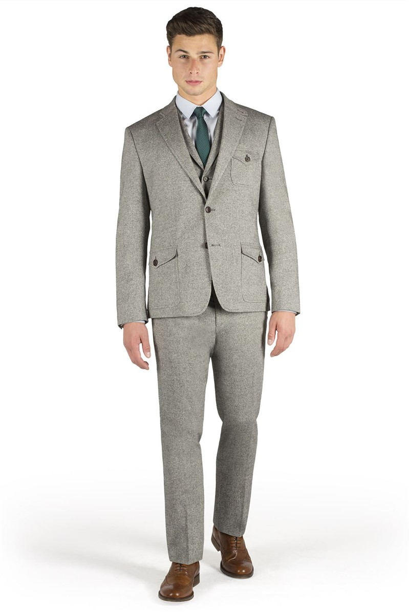 Grey Donegal Super Slim Jacket