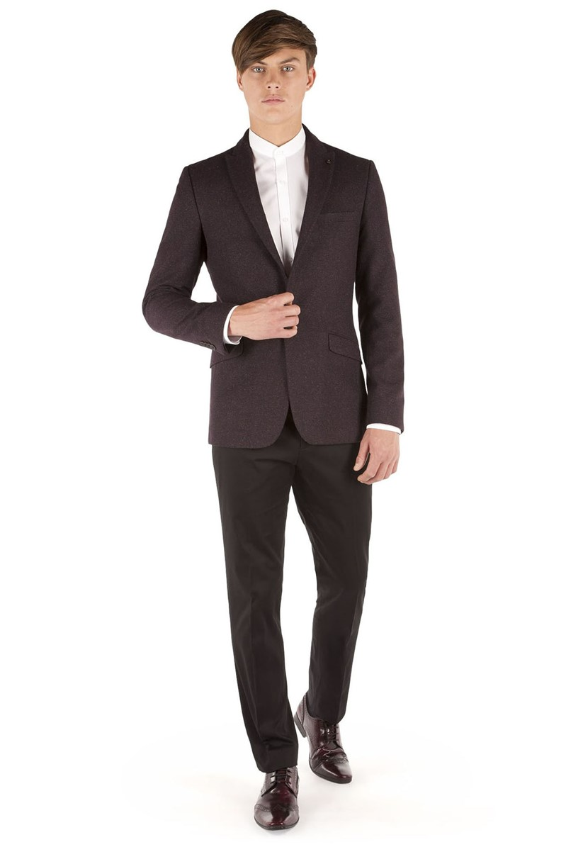 Aubergine Speckle Slim Fit Jacket