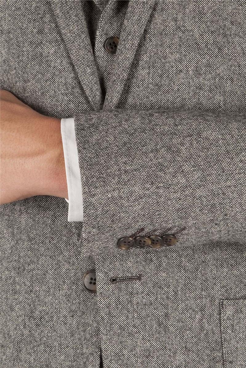 Grey Donegal Slim Fit Jacket
