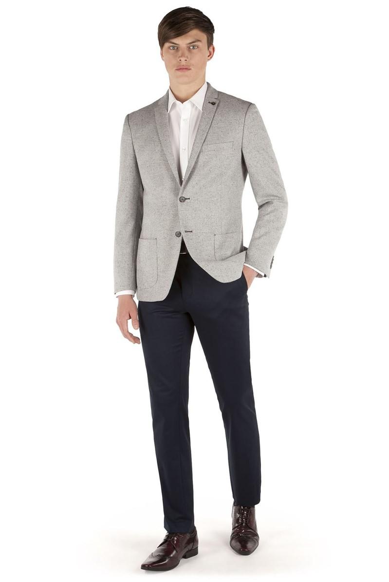 Grey Speckle Slim Fit Formal Jacket