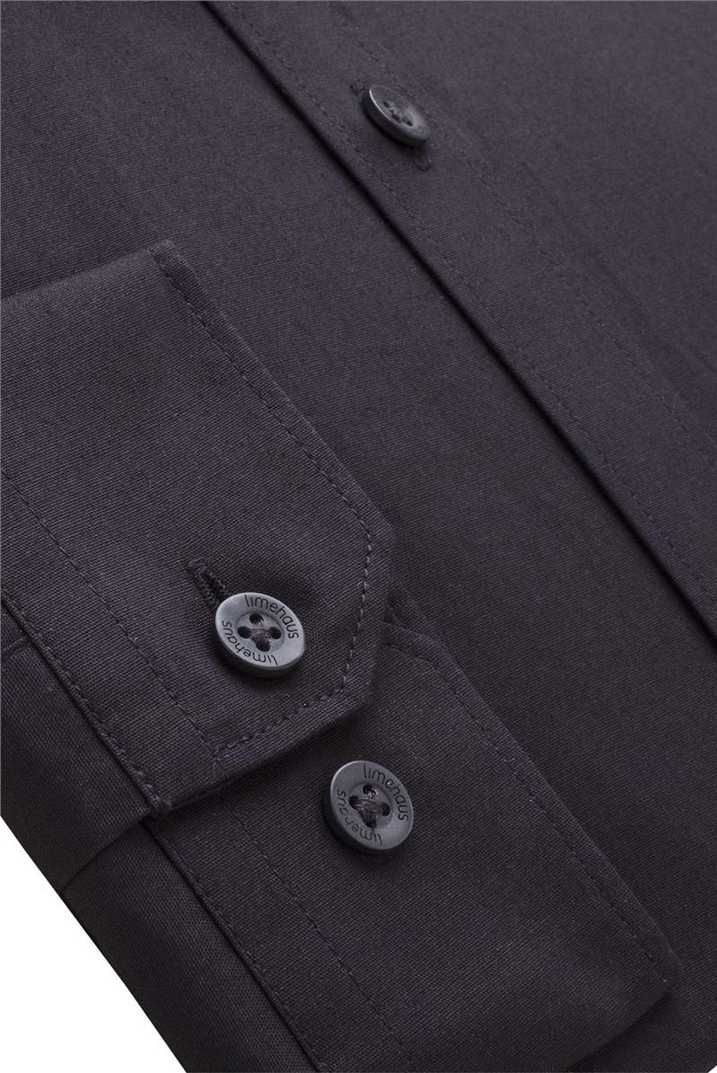 Plain Black Slim Fit Shirt