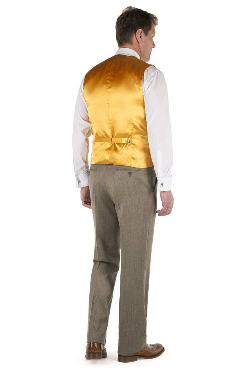 Taupe Twill Country Waistcoat