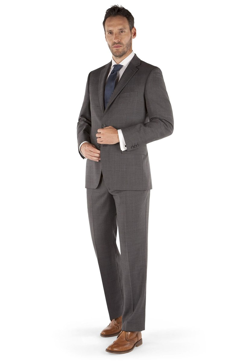 Prince of Wales Check Regular Fit Grey Suit Jacket
