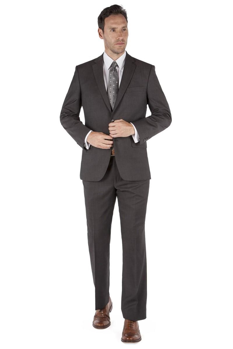 Brown Pindot Regular Fit Suit