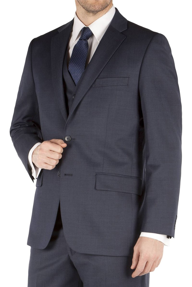 Pierre Cardin Blue Pindot Regular Fit Suit