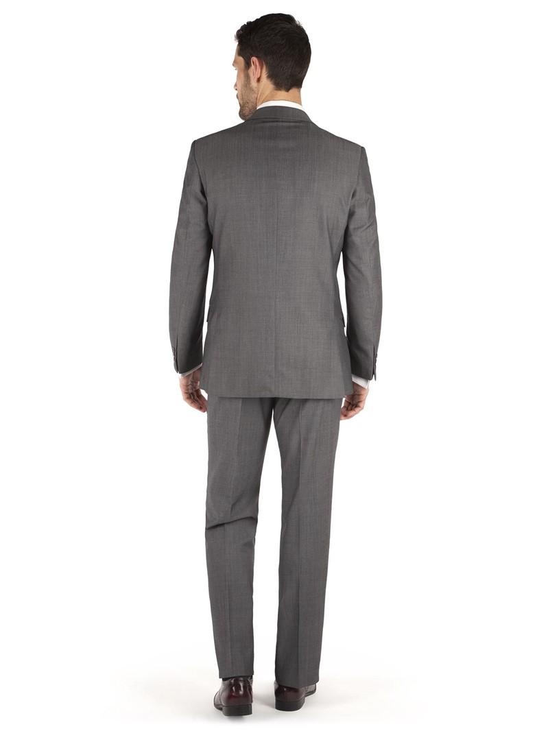 Grey Twill Regular Fit Suit