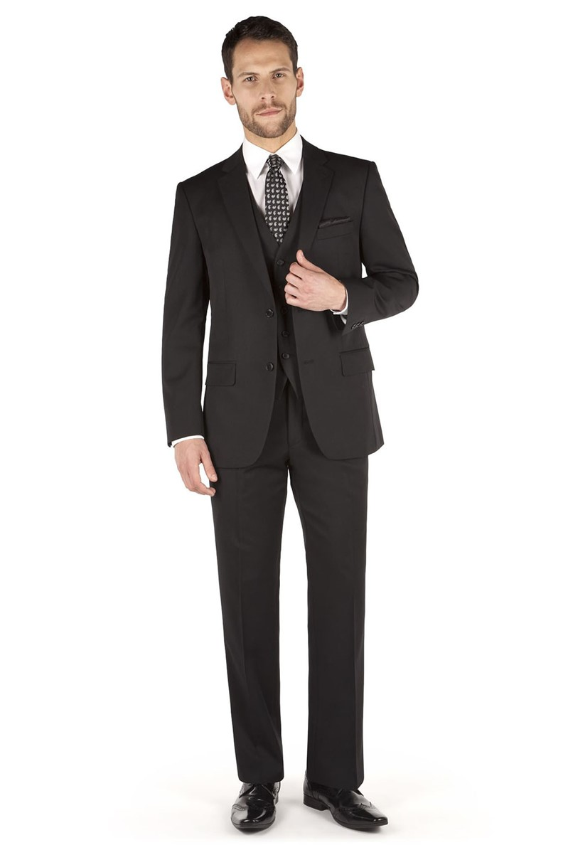 Black Twill Regular Fit Suit