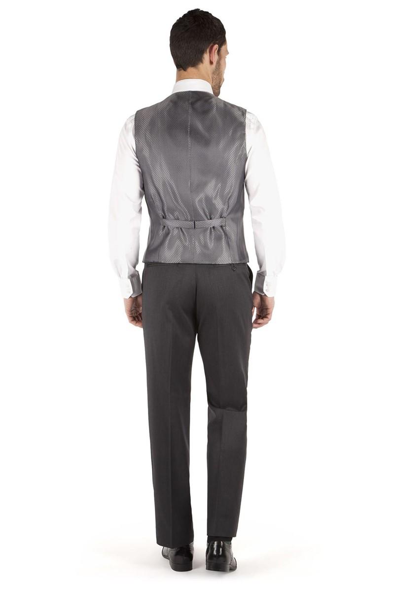 Charcoal Twill Regular Fit Waistcoat