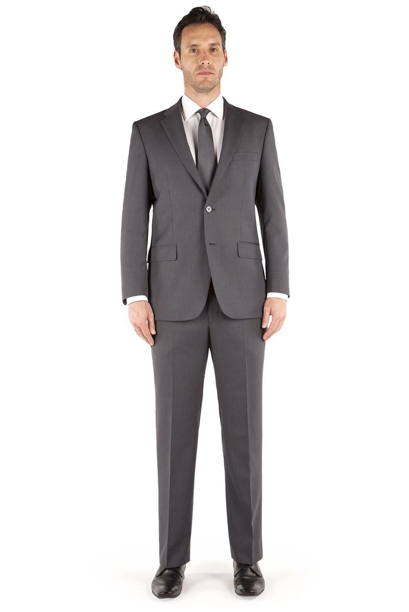 Grey/Blue Stripe Regular Fit Suit