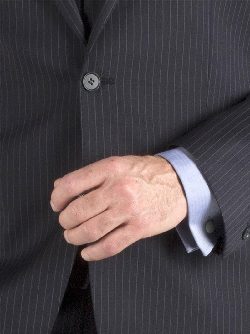 Navy Stripe Regular Fit Suit Jacket