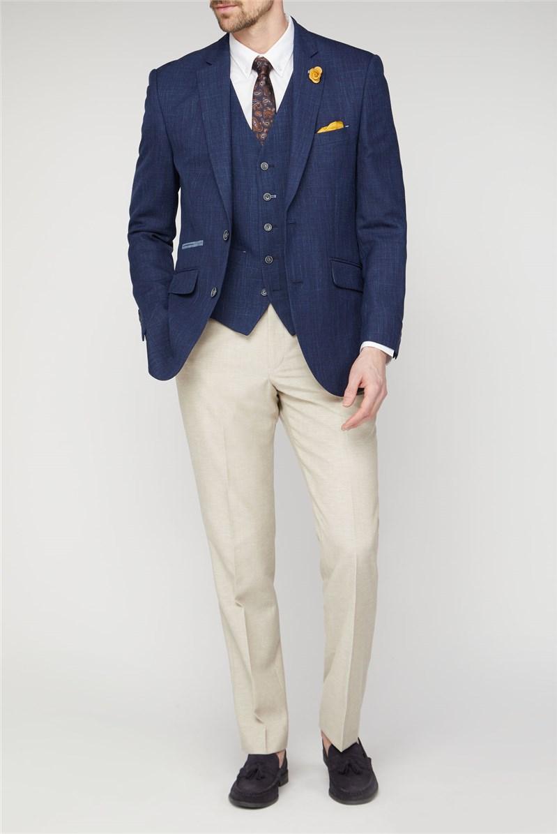Linen Blend Textured Jacket