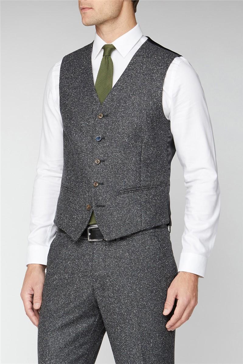 Charcoal Donegal Waistcoat