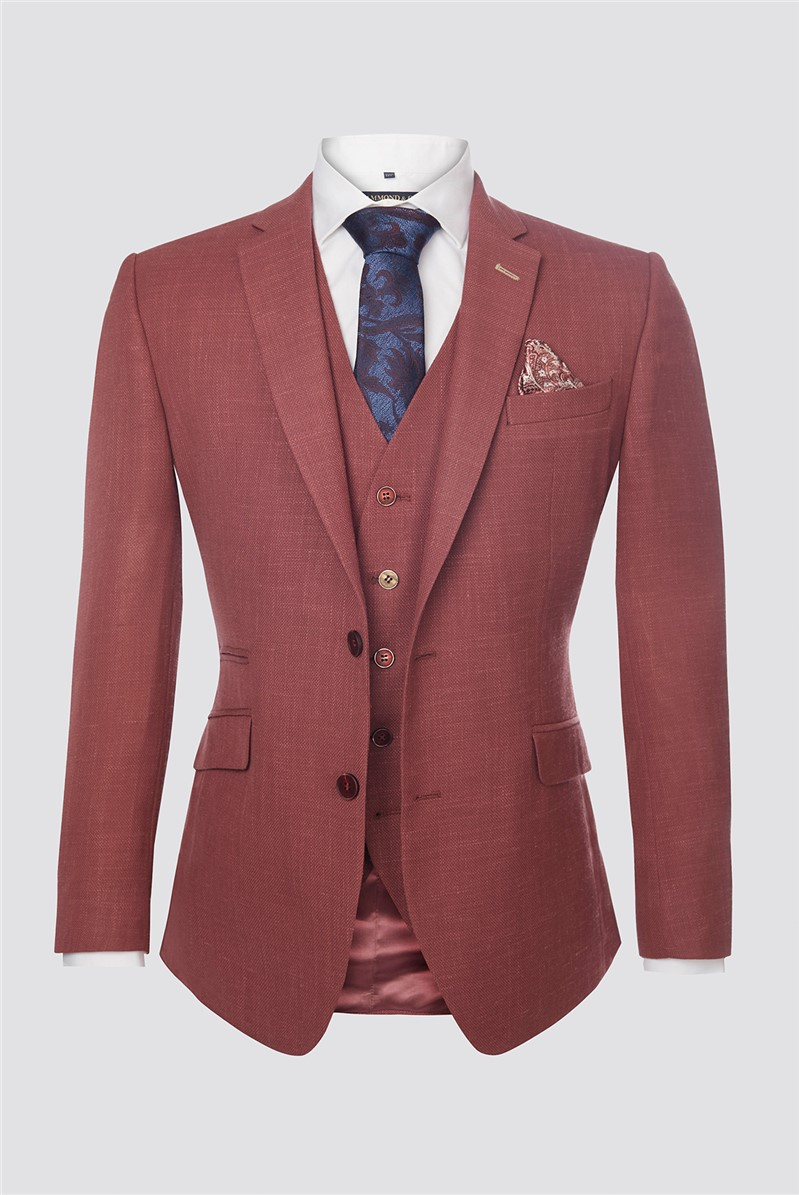 Berry Textured Contemporary Jacket
