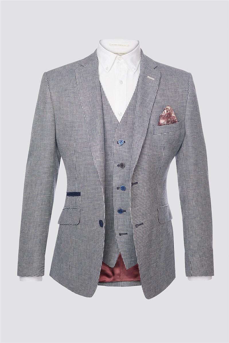 Blue Dogtooth Contemporary Jacket