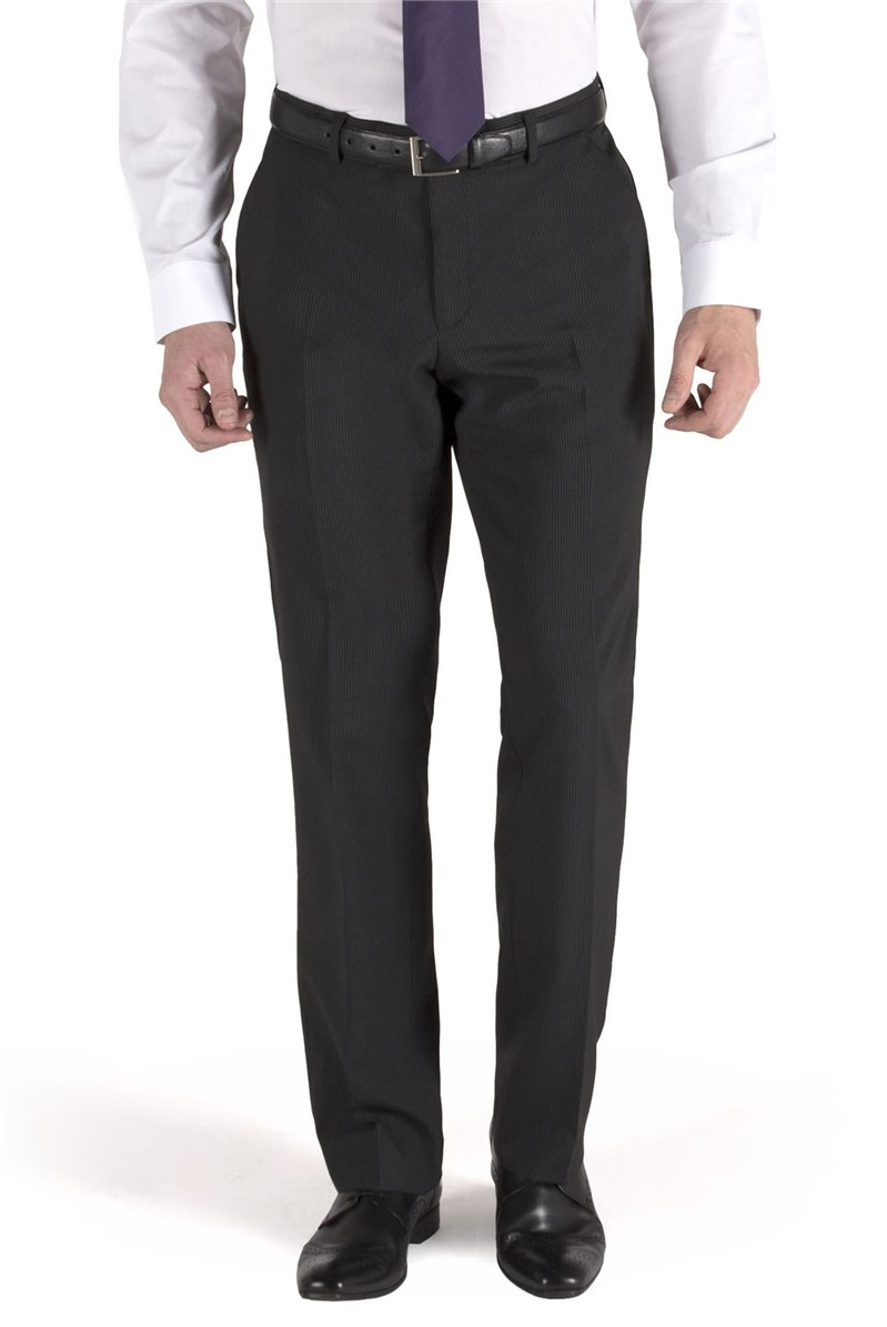 Charcoal Stripe Suit Trouser
