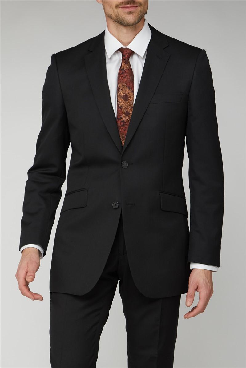 Black Twill Suit Jacket