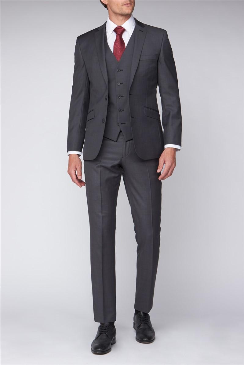 Charcoal Sharkskin Premier Fit Suit