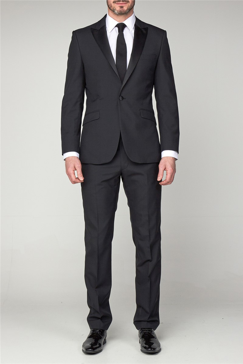 Tailored Fit Black Dinner Trousers