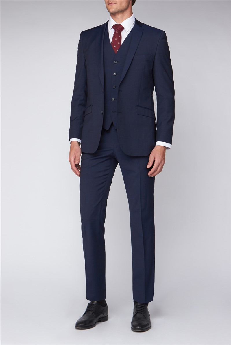 Premier Navy Prince of Wales Check Suit