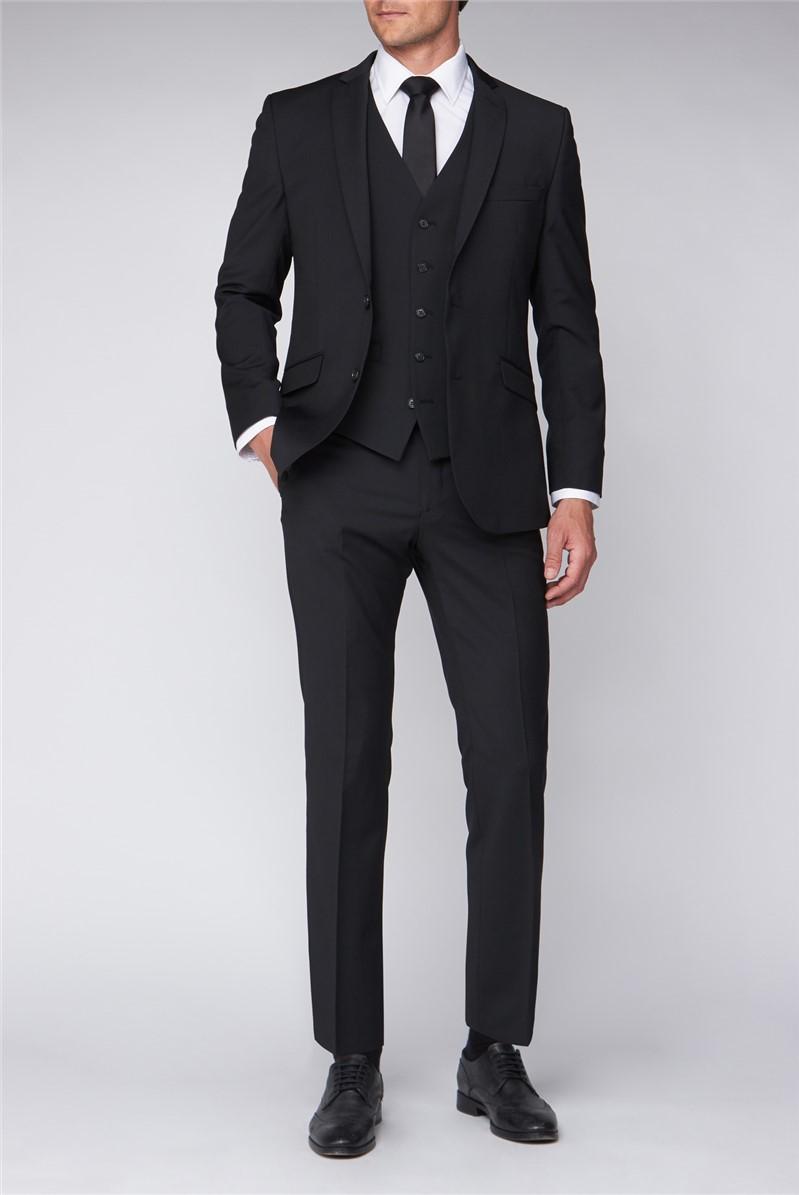Black Premier Fit Suit