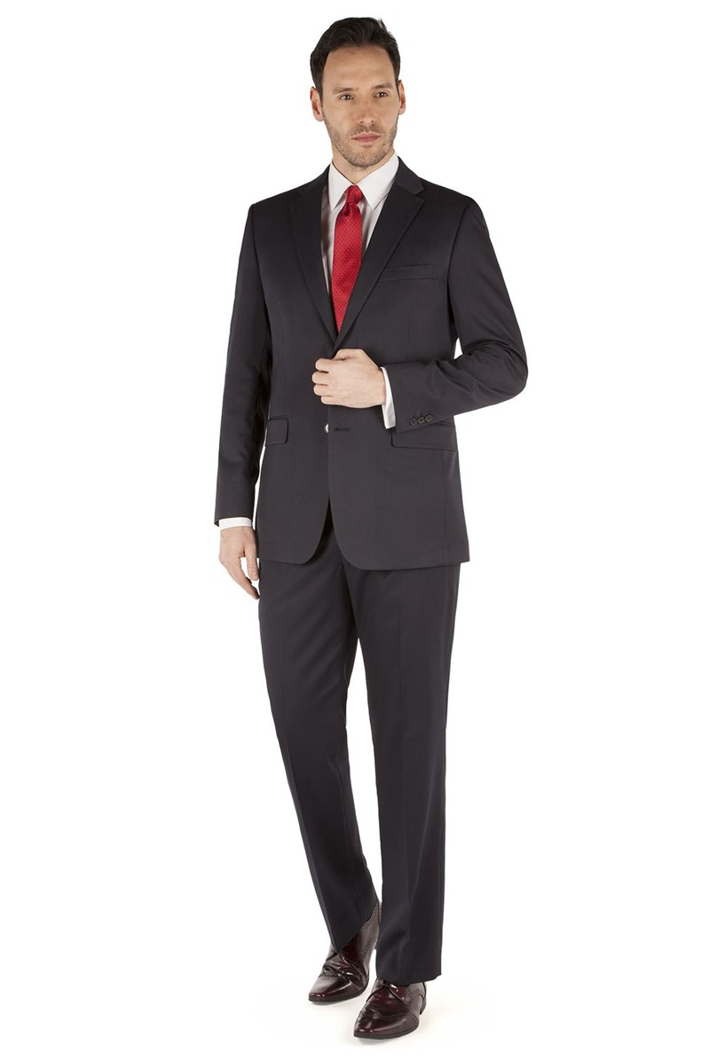 Navy Twill Regular Fit Suit