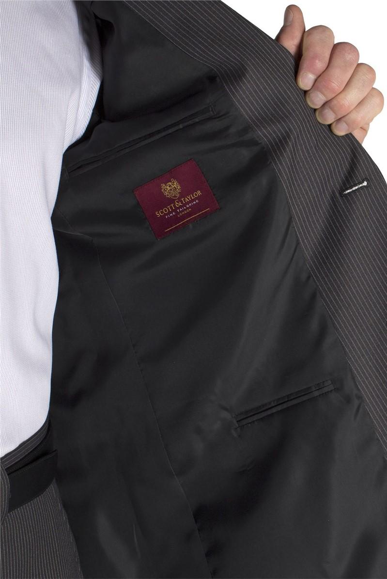 Grey Stripe Suit Jacket