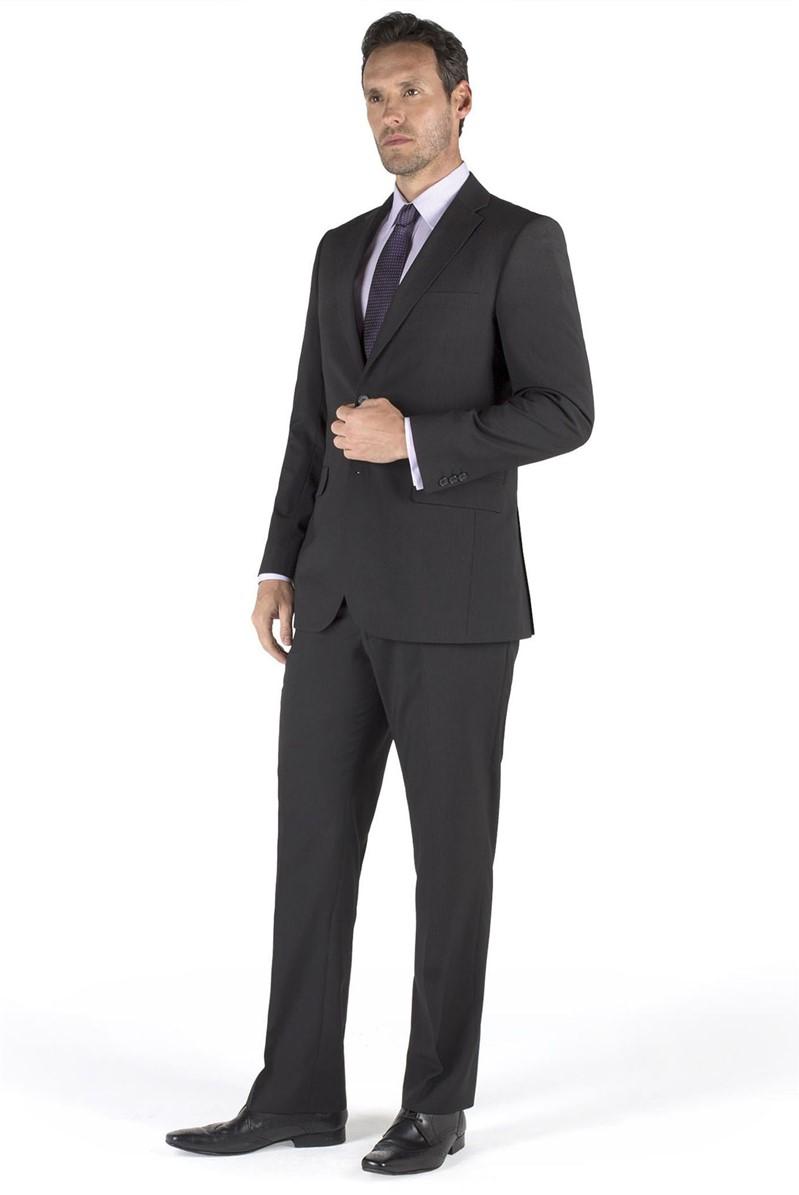 Black Twill Stripe Regular Fit Suit
