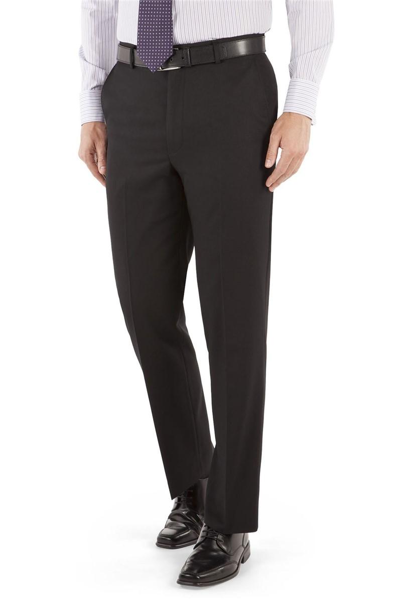 Black Twill Suit Trouser
