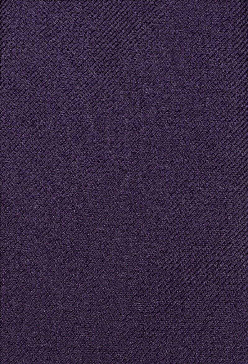 Purple Plain Textured Tie