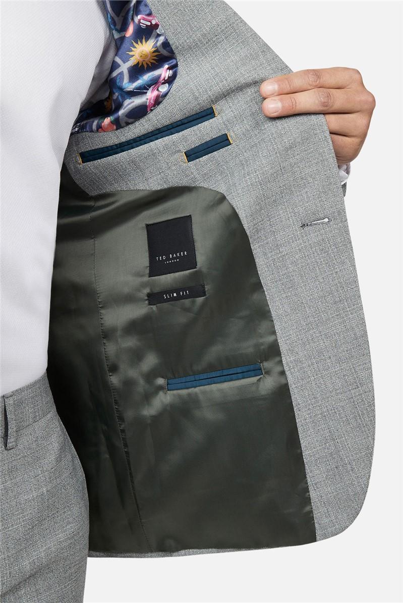 Grey Crosshatch Slim Fit Suit