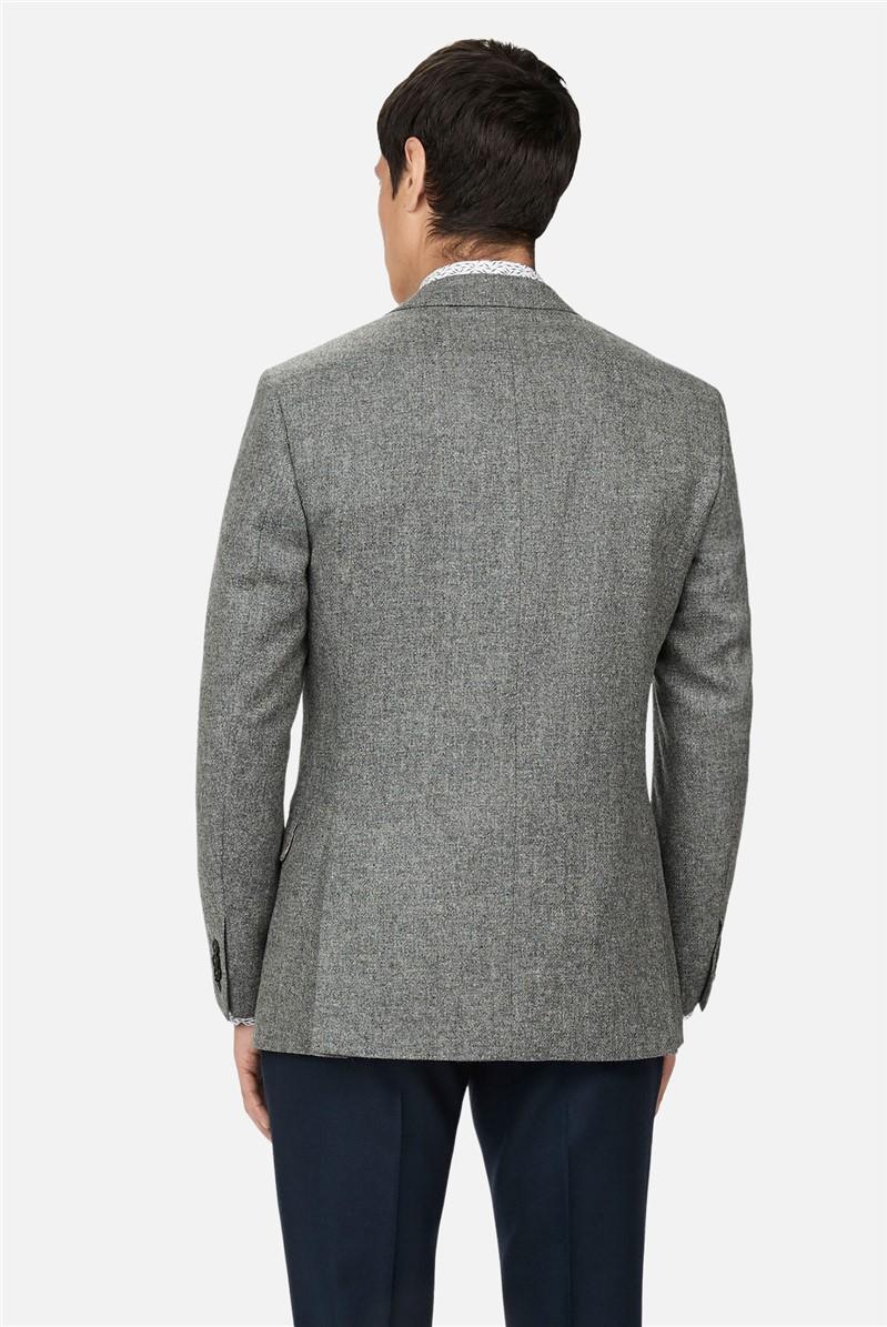 Grey Melange Woollen Regular Suit
