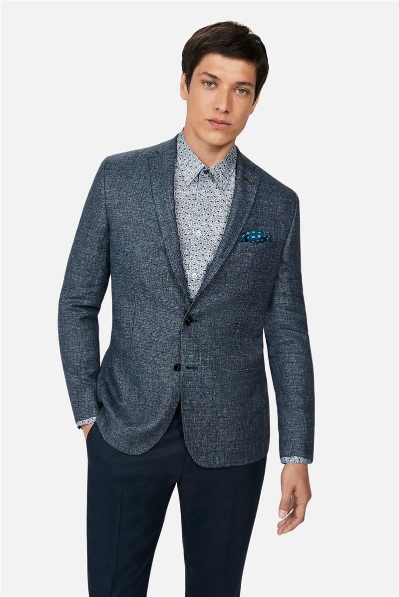 Airforce Linen Slub Slim Suit